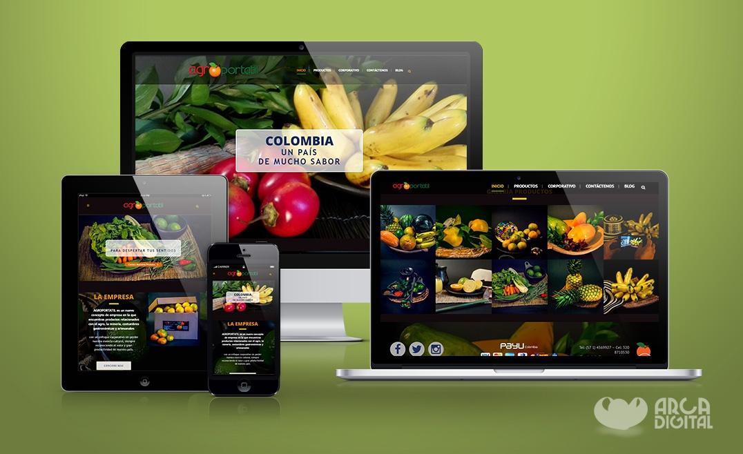 Sitio de productos agrícolas